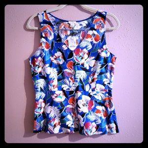 J. Crew floral print blouse size 8